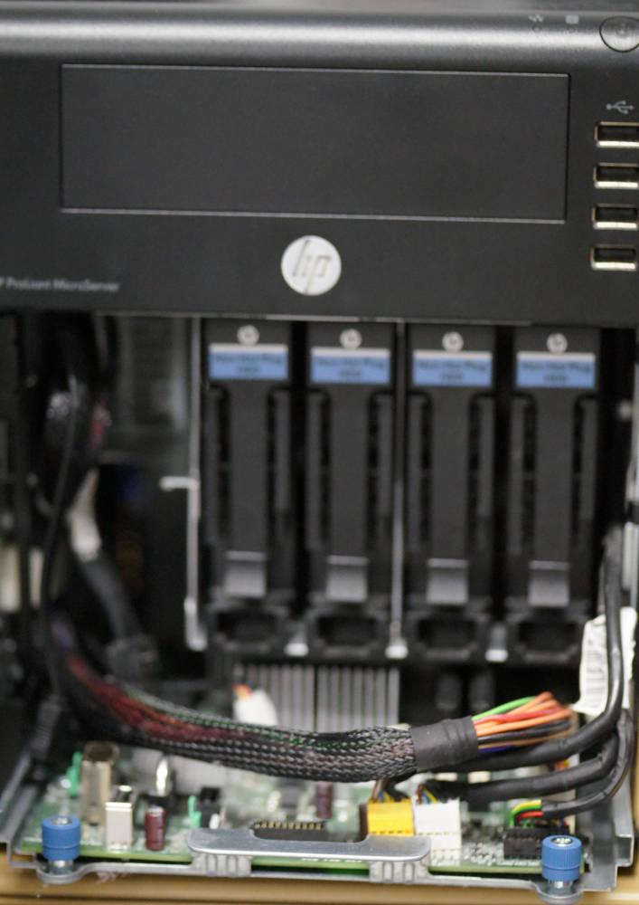 HP ProLiant Microserver offen
