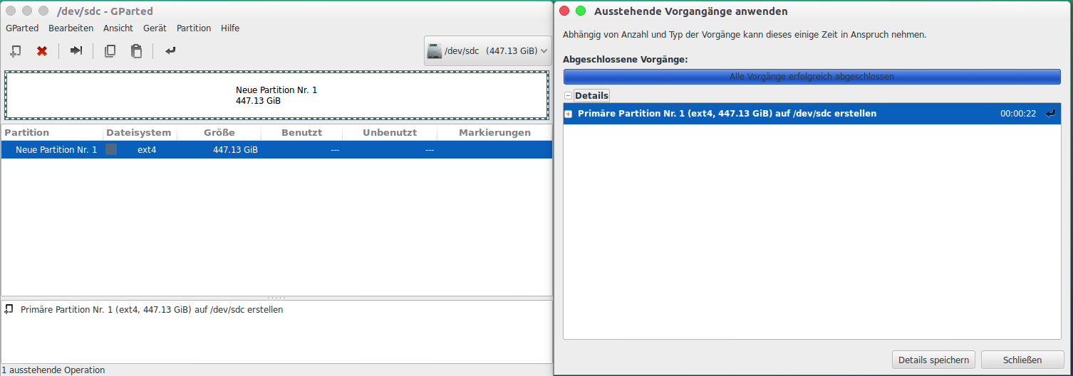neue Partition