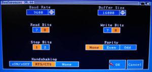 Amiga serielle Schnittstelle Einstellungen