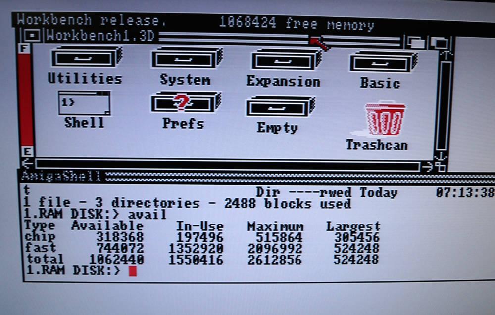 RAM wird vom Amiga erkannt