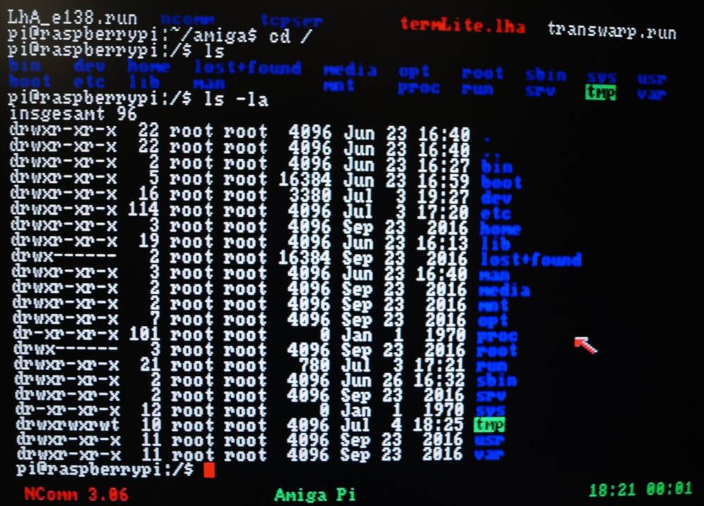 Amiga Linux Terminal NComm