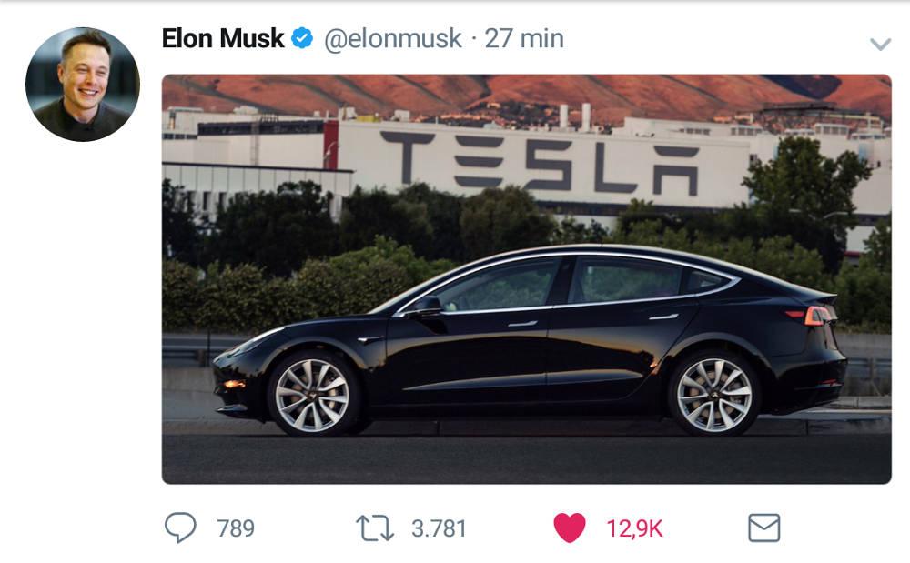 Tesla Modell 3 fertig