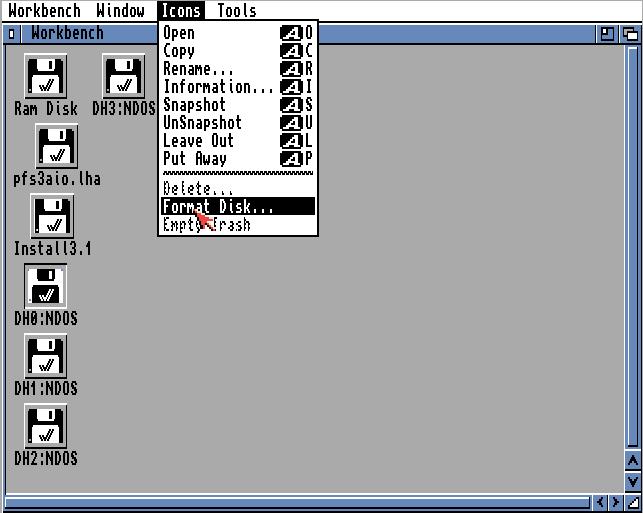Amiga Festplatte formatieren