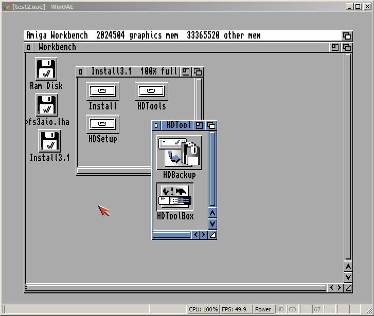 Amiga Festplatte partitionieren