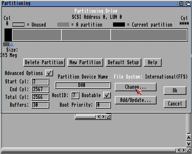 change file system