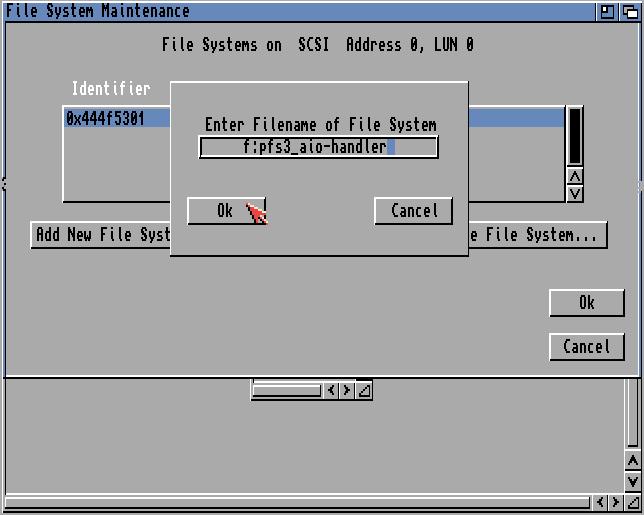 Name des neuen Dateisystems
