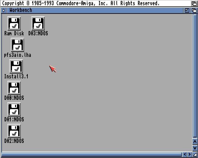 Reboot zeigt Partitionen