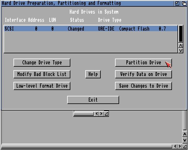 SCSI Konfiguration compact flash