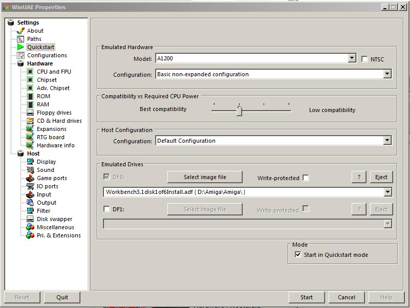 WinUAE Workbench Installations Diskette