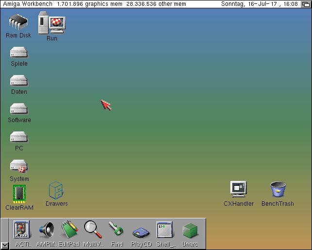 Amiga OS 39 Desktop
