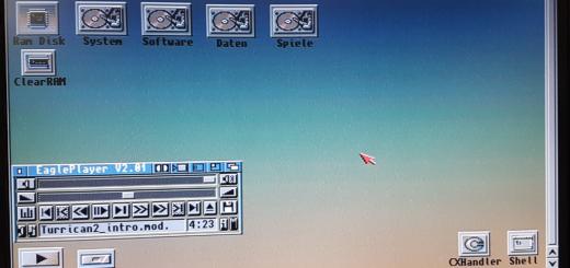 Amiga Anzeigefehler auf LCD Display