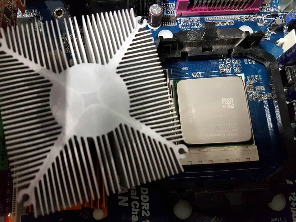 gereinigte CPU und Lüfter