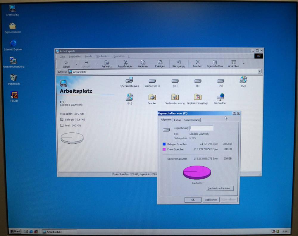 NTFS formatierte Festplatte