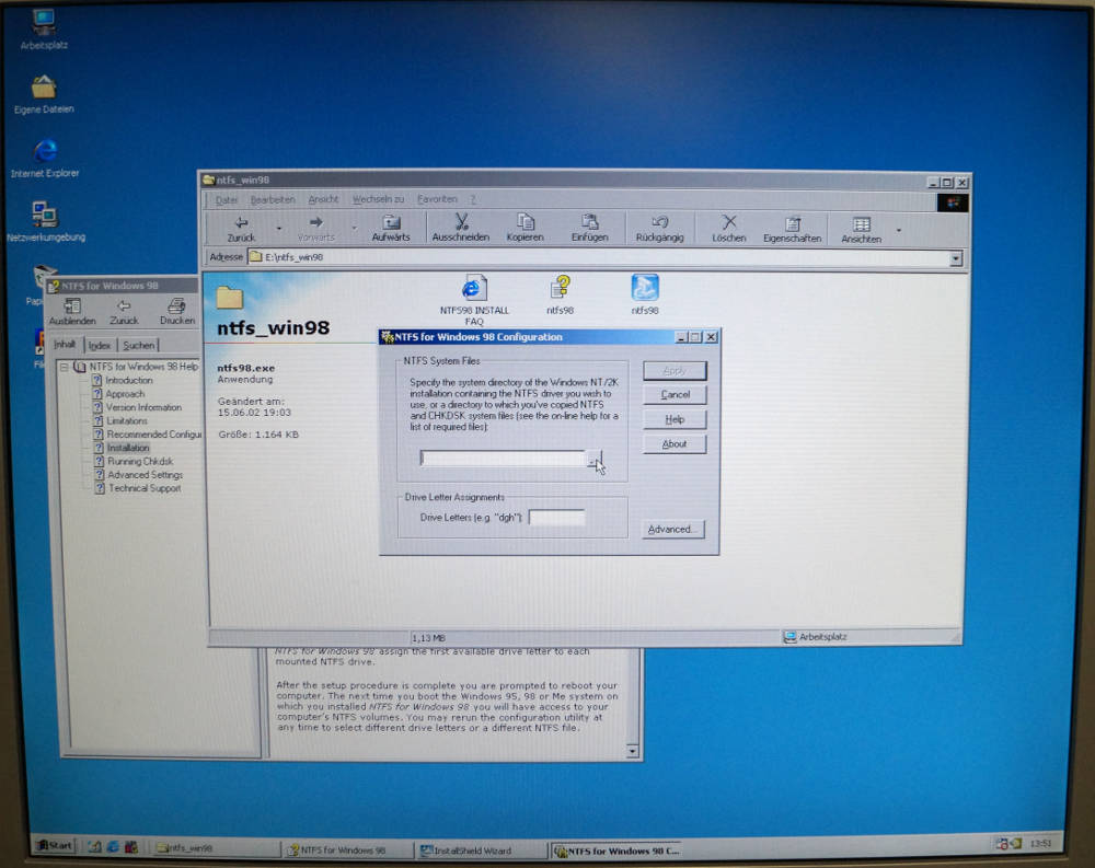 NTFS unter Windows 98