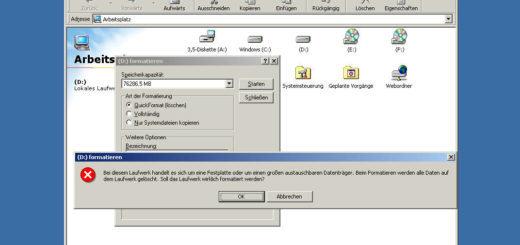 Festplatte unter Windows 98 partitionieren und formatieren