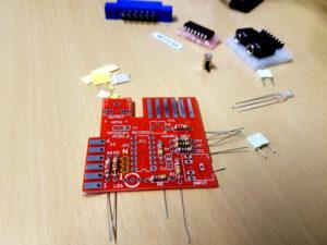 mp32c64 Bauteile löten