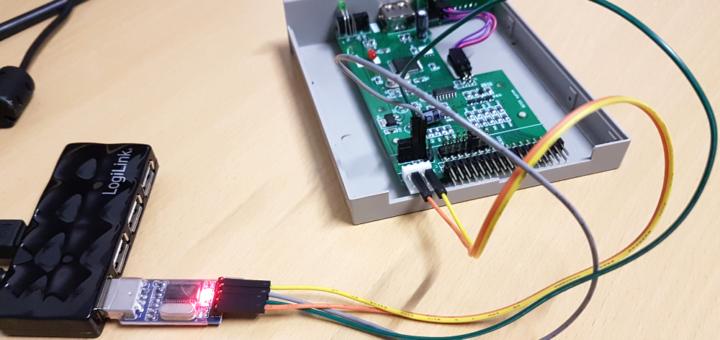 Gotek Board USB-TTL verkabeln