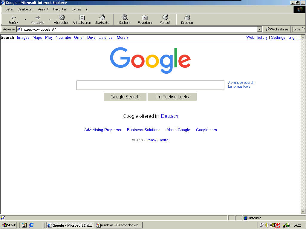 Windows 98 google