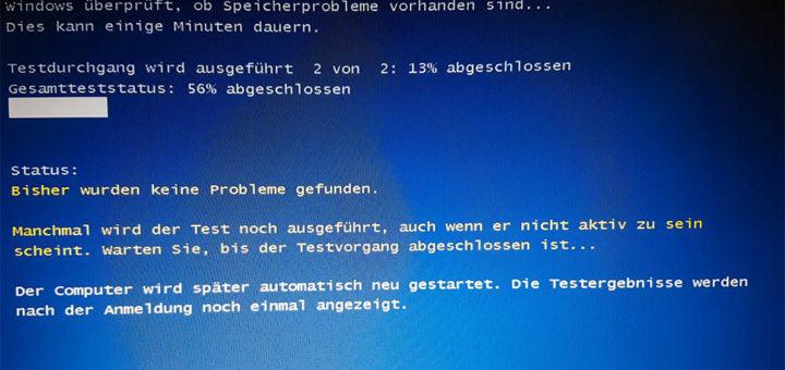 RAM unter Windows 10 testen