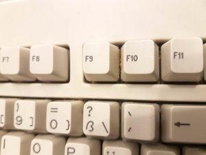 schmutzige PC Tastatur