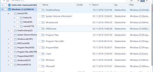 gelöschte Dateien suchen
