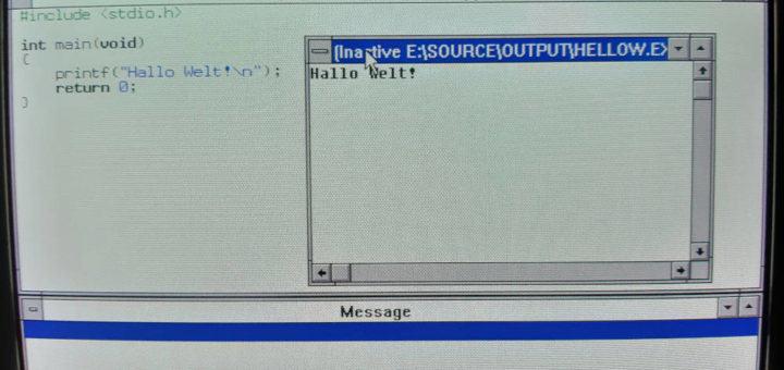 C++ Entwicklung unter Windows 3.1