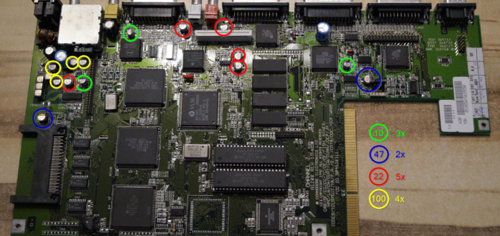 Keramik Kondensatoren Amiga 1200