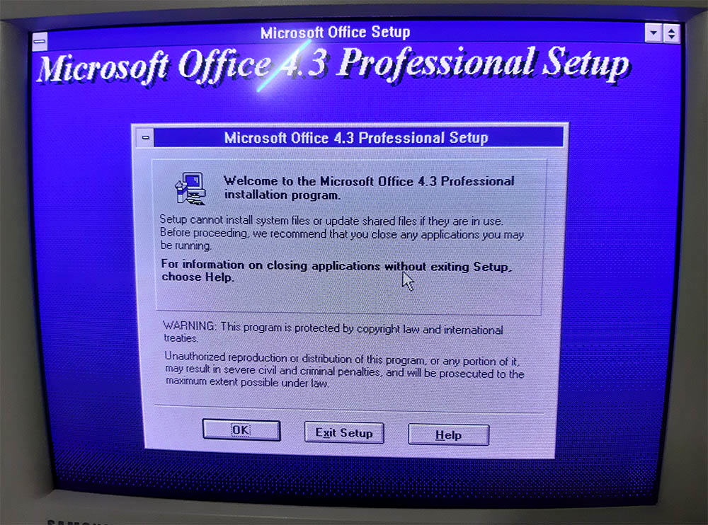 Microsoft Office 4.3 Installation