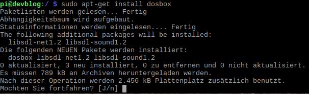 apt get install dosbox