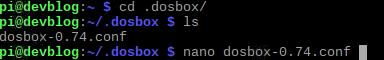 dosbox Konfigurationsdatei