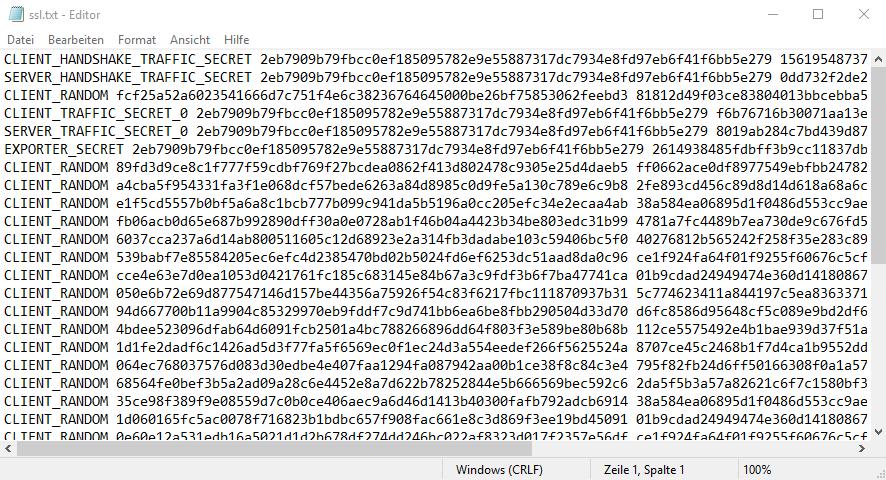 SSL Keys gespeichert