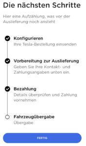 Tesla Model 3 Bestellvorgang