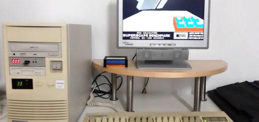 Mein 486er PC mit Monitor