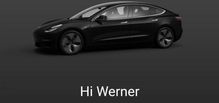 Tesla Model 3 schwarz