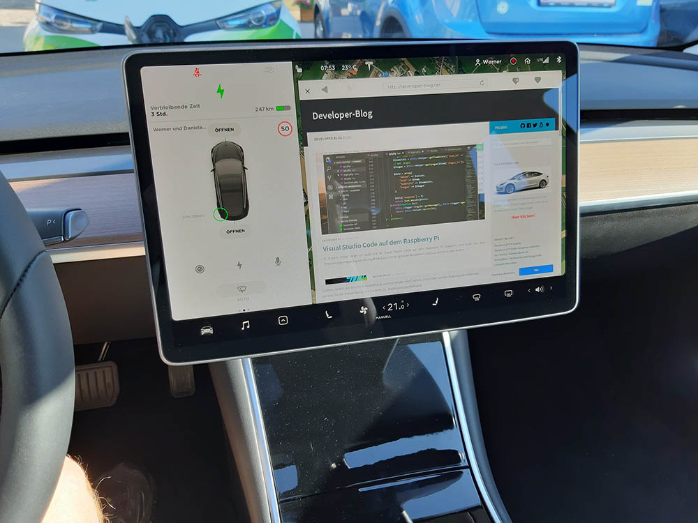 Tesla Model 3 Browser bloggen