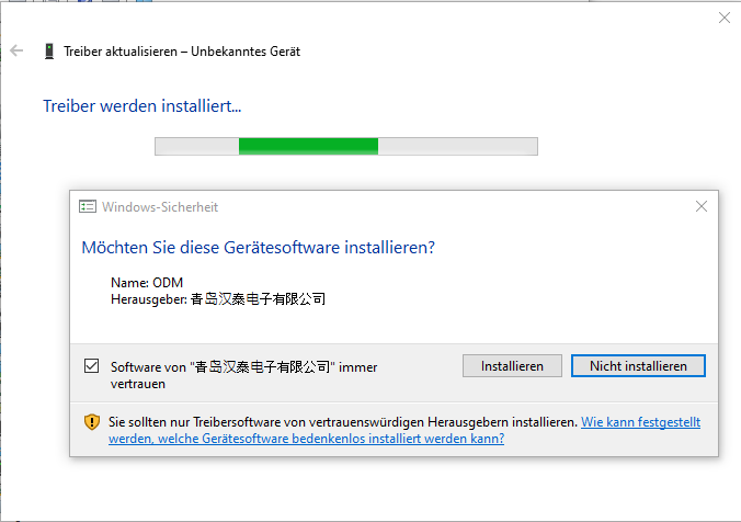 Hantek 6022 Windows 10 Treiber installieren