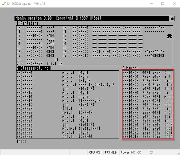 Amiga Assembler Datei laden