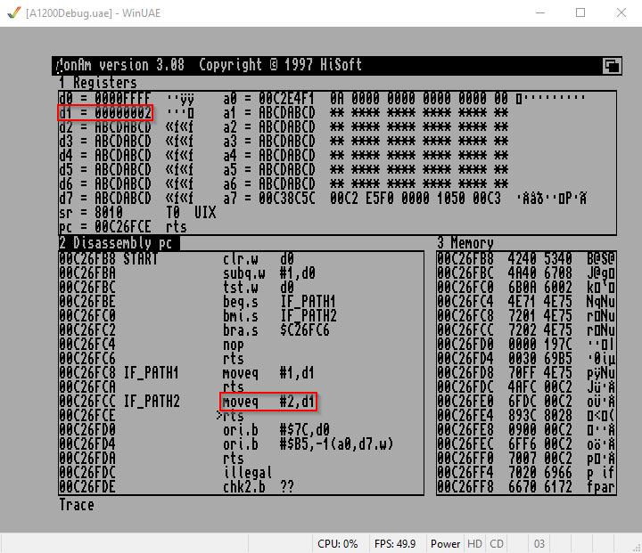 Amiga Assembler dreiteilige Kondition