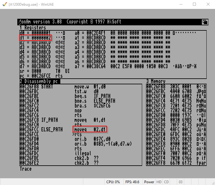 Amiga Assembler if/else