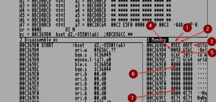 Amiga Assembler Memory