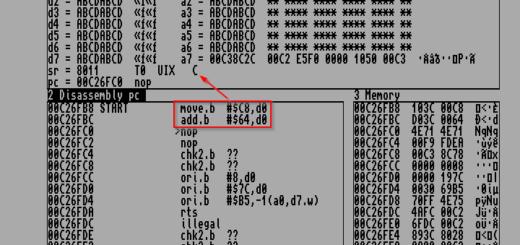 Amiga Assembler MonAm Status Register