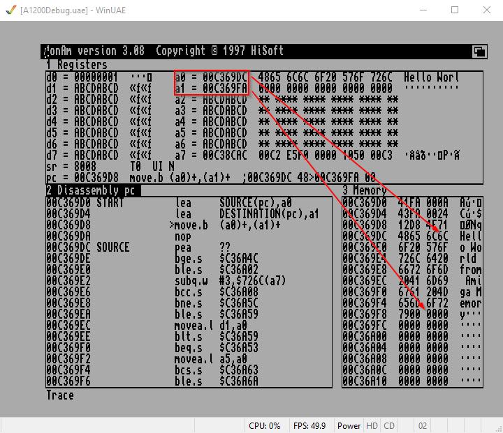 copy memory Amiga Assembler
