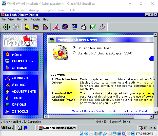 Windows 98 nucleus driver