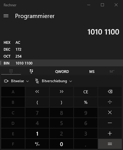 Windows Rechner Programmierer