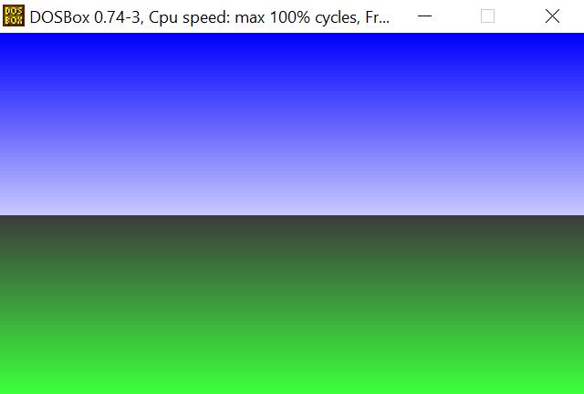 color palette DOS VGA