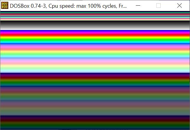 draw VGA background DOS