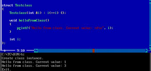 Turbo C++ Class Beispiel