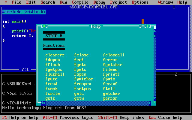 Turbo C++ stdio.h