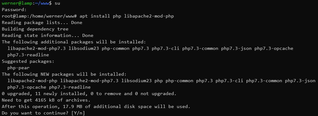 Debian PHP installieren