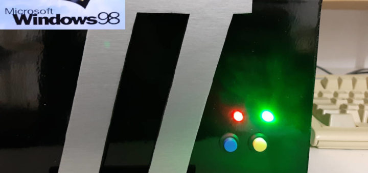 Knöpfe LEDs Windows Logo